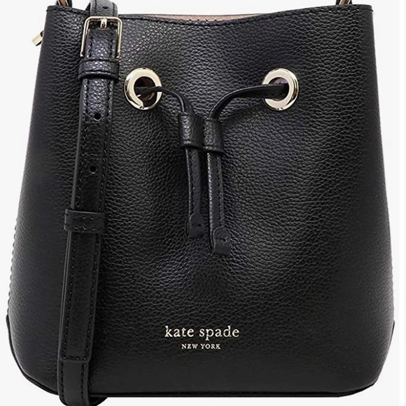 Kate Spade Leather Small Crossbody Bucket Bag